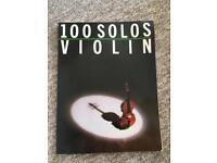 100 Solos in Violin Music Book