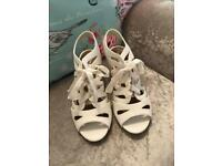 New look white wedge sandals size UK 5