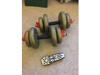 Dumbbells - 2.3kg/5LB and 1.1kg/2.5LB weights
