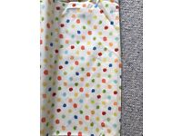 Childrens Bedroom Curtains - Cream & Polka Dots