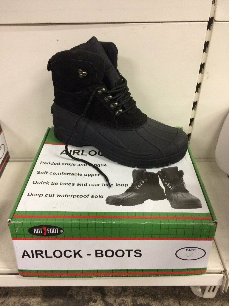 a6ba8e13741609 NEW - 1 of each Men's Hotfoot Airlock & Combat Padded Ankle Boot size 12