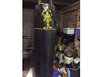 Golds Gym Boxing Punch Bag & Gloves (Sold)