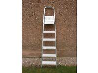 6 Step Lightweight Aluminium Ladder With Platform.