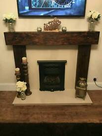 new fire surround hand made in railway