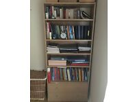 Book shelves with two drawers