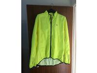Illuminous running jacket waterproof/windproof XL