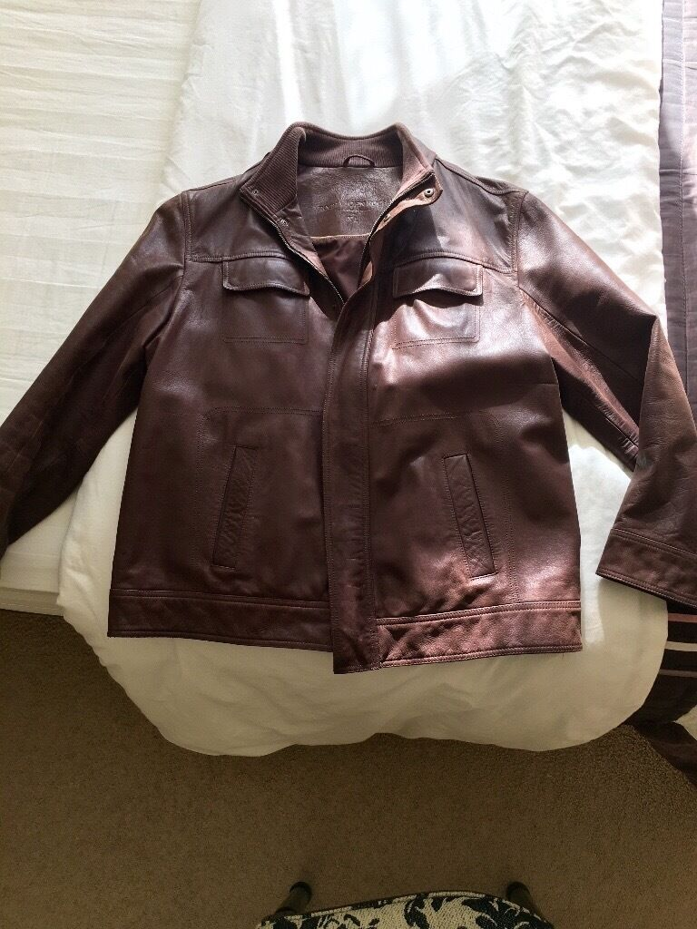 Quality Brown Leather Jacket (heavy leathersize XL hardly wornin Whitchurch, CardiffGumtree - Very well made Brown Leather Jacket XL hardly worn , heavy quality leather fab for the winter £60