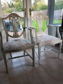 Shabby zfrench Chic Carver chairs