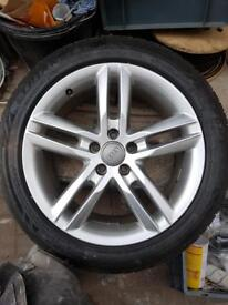 Audi A6 alloy wheels x4 with good tyres