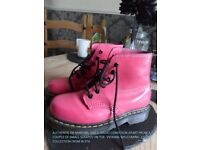 Pink authentic Dr Martins - vivid pink u.k size 1