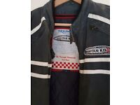 TRIUMPH MOTORCYCLE'S JOHNNY ALLEN SPEED RECORD RIDING JACKET S