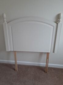 2 almost new cream headboards for single beds