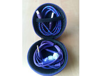 Hard Storage Case With Headset & Lightning Cable Purple