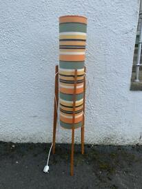Large vintage rocket lamp