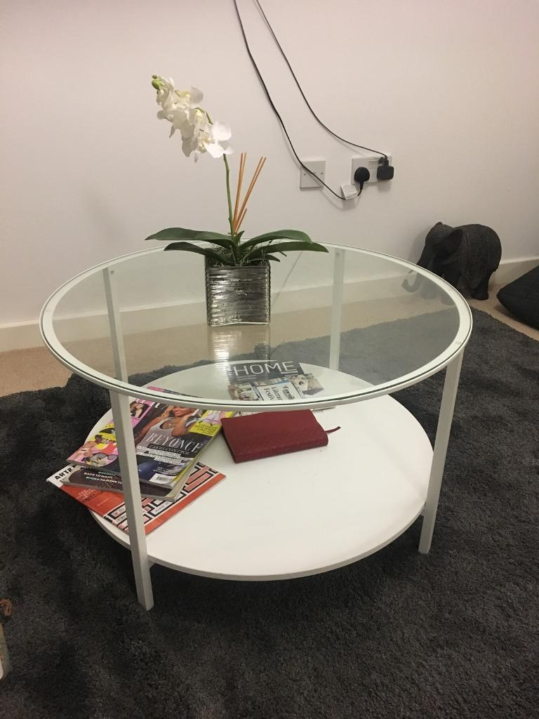Ikea Vittsjo Coffee Table In White
