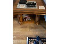 2 chairs stool coffee table