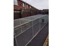 galvanized dog run and kennel
