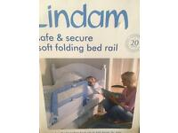 BNIB Lindam Soft folding Bed Rail/Bed Guard. Blue.