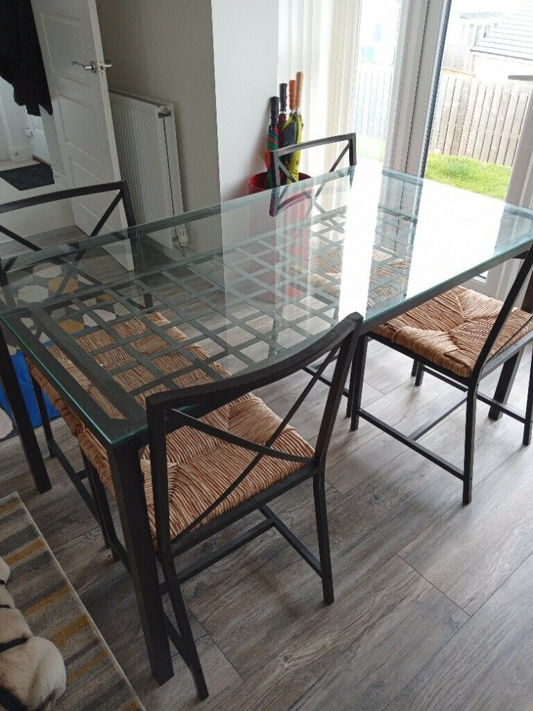 Black Gothic style dining table & chairs   in Glasgow   Gumtree