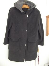 Ladies Dark Grey Duffle Coat Size 12-14.