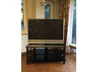 Panasonic TH-42PX60B plasma TV with stand.
