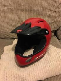 BMX diamond-back helmet