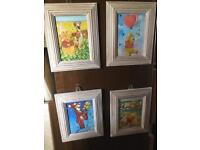 Set of 4 nursery pictures