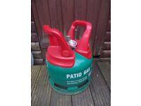 Empty 5 kg bottle of LPG patio greenhouse heater