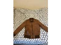 Real brown Leather jacket ASOS male medium