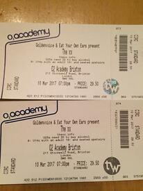 The XX - 4 tickets on 10th March @ Brixton Academy