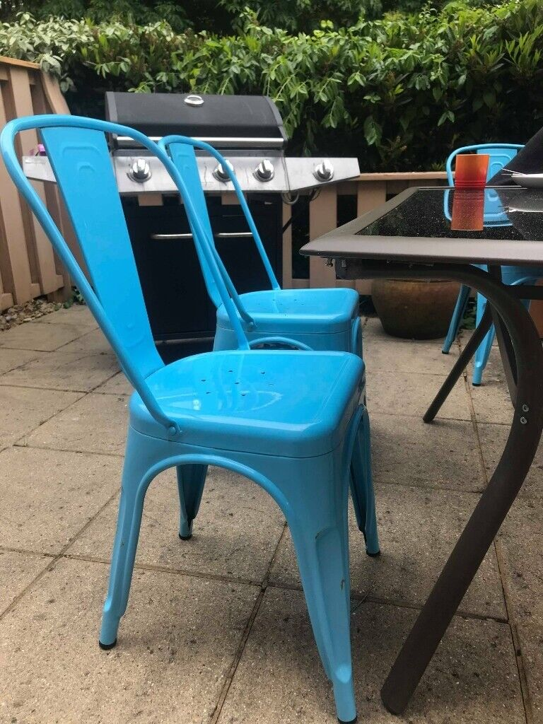 Magnificent Sky Blue Modern Industrial Dining Chairs Indoor Outdoor Patio Seats 1 For 30 2 For 50 In Southampton Hampshire Gumtree Unemploymentrelief Wooden Chair Designs For Living Room Unemploymentrelieforg