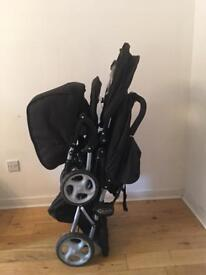 Baby stroller double seats
