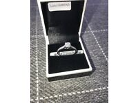 9ct white gold 0.25 ct diamond ring, unworn brand new ring
