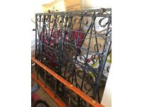 Heavy solid iron gate