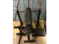 Marcy MWB press bench and weights
