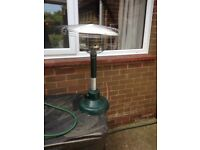Gas table top heater.