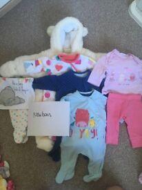 Baby girl newborn/up to 1 month bundle