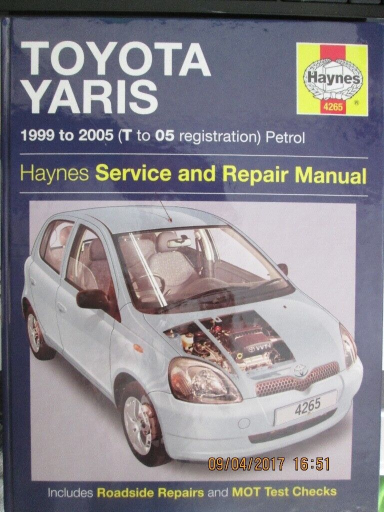 HAYNES MANUAL TOYOTA YARIS 1999-2005