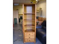 Pine Corner Display Unit with 3 Drawers - Good Condition