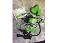 H20 X5 Handheld Steam Cleaner with attachments - nearly new, great condition