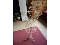 Wire Storage Mannequin studded with sparkly jewels. Not full size only 82 cms high - Shipley