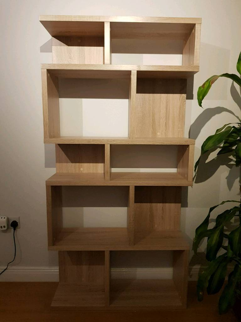 Tall modern shelf unit