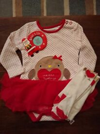 Baby girls chritsmas outfit worn once