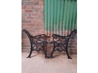 HEAVY CAST IRON BENCH ENDS