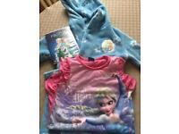 Disney frozen nightwear, DVD top and hat