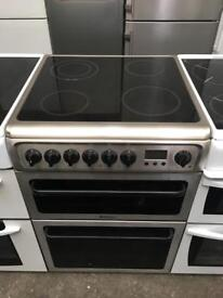 HOTPOINT free standing electric ceramic cooker 60 cm Width in good condition & perfect working order