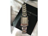 Emporio Armani diamanté ladies watch - with certificates - in box - spare link - ideal xmas gift