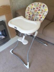 Graco foldaway highchair