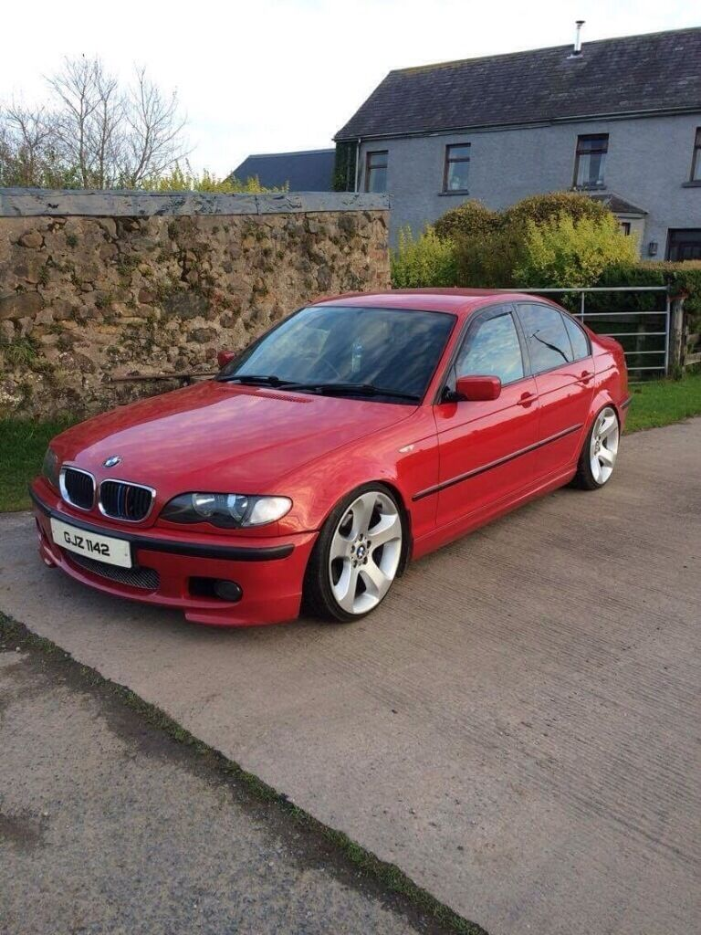 320d imola red bmw