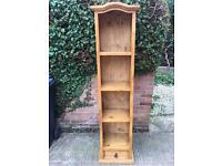 Rustic pine shelf freestanding solid Victorian style